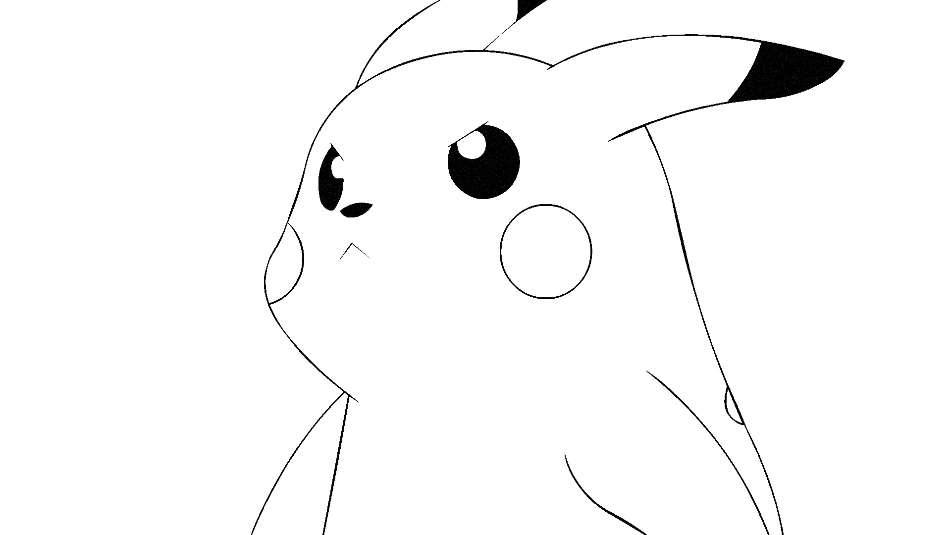 pikachu coloring page 07